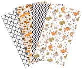 Trend Lab Friendly Forest Flannel Burp Cloth - Set of Four