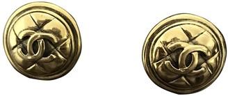 Chanel MatelassA Gold Metal Earrings