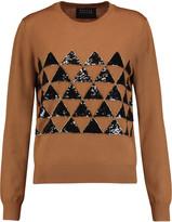 Markus Lupfer Embellished wool-jersey sweater
