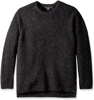 French Connection Men's Oversized Donegal Crewneck Sweater