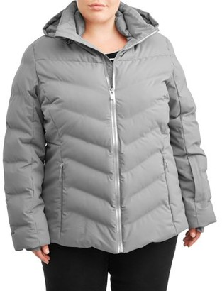 Time and Tru Women's Plus Size Puffer Coat