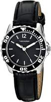 Vernier Women's VNR11183SS Analog Display Japanese Quartz Black Watch