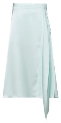 HUGO BOSS A-line skirt in lustrous fabric with drape front