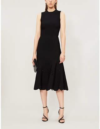 Alexander McQueen Cutout woven midi dress
