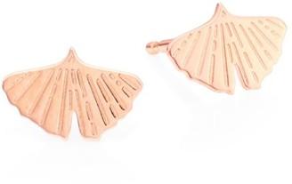 ginette_ny Gingko 18K Rose Gold Earrings