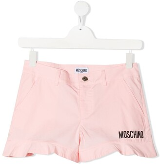 MOSCHINO BAMBINO TEEN logo-printed shorts
