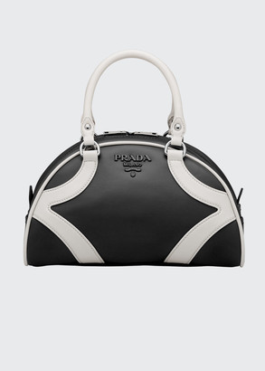 Prada Bowling Bag w/ Removable Crossbody Strap