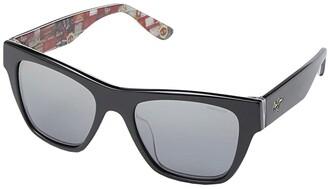 Maui Jim Treble (Manchester United Exclusive) (Black/Treble Collage) Fashion Sunglasses