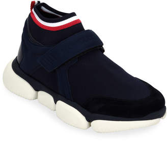 Moncler Men's Barnie Grip-Strap Sneakers