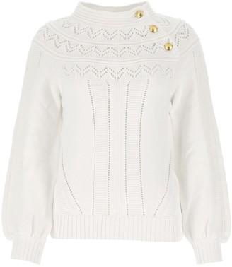 Alberta Ferretti Buttoned Knitted Sweater