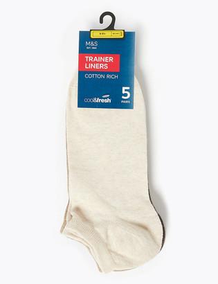 Marks and Spencer 5 Pack Cool & Fresh Trainer Socks