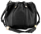 See by Chloe Small Leather Drawstring Bucket Bag, Black