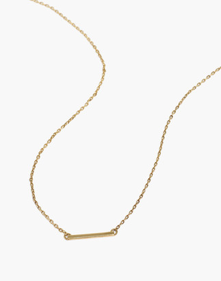 Madewell Delicate Collection Demi-Fine Bar Necklace