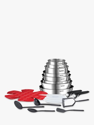 Tefal Ingenio Emotion Stainless Steel Frying and Saucepan Set, 22 Piece