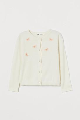 H&M Appliqued Cardigan - White