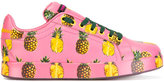 Dolce & Gabbana pineapple print sneakers - women - Leather/rubber - 35.5
