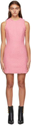 Balmain Pink Tweed Sleeveless Dress