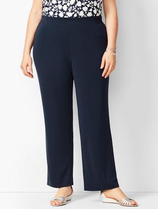 Talbots Plus Size Knit Jersey Straight Leg Pants