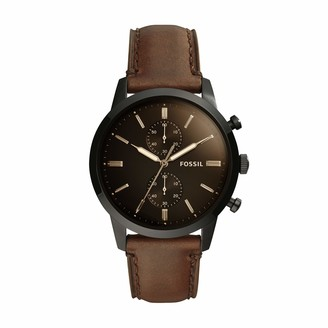 Fossil Men's Chronograph Quartz Watch with Leather Strap FS5437