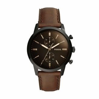 Fossil Men's Townsman Quartz Leather Chronograph Watch Color: Brown (Model: FS5279)