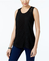 Style&Co. Style & Co Lace Embroidered Top, Created for Macy's