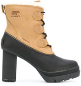 Sorel panel lace-up heeled boots