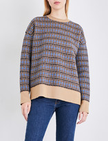 Stella McCartney Oversized check wool jumper