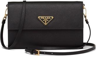Prada Triangle Logo Strap Wallet