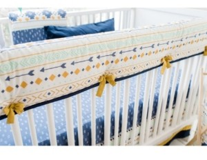 My Baby Sam Desert Sky Crib Rail Cover Bedding