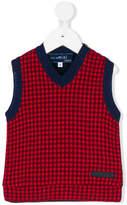 Simonetta patterned V-neck vest