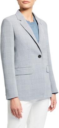 Max Mara Olona Glen-Plaid Wool Jacket