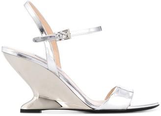 Prada structured wedge sandals