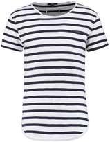 Tigha LENO STRIPES Print Tshirt blue haze/white