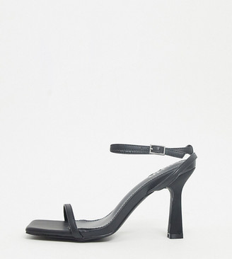 Raid Wide Fit Glendora barely there sandals in black