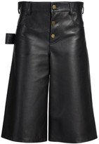 Bottega Veneta Leather Satine Shorts