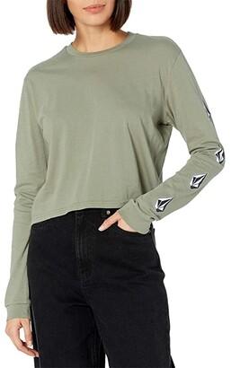 Volcom The Stones Long Sleeve Tee (Green Tea) Women's T Shirt