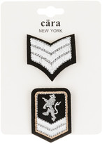 Cara Accessories Stripes & Crest Pin - Set of 2