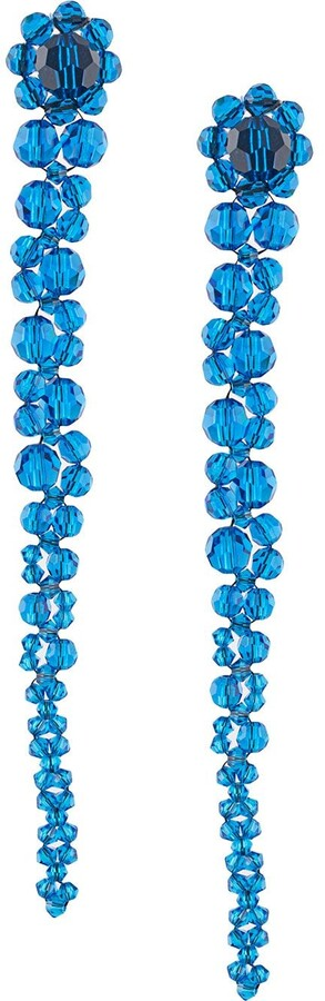 Simone Rocha Crystal Drop Cluster Earrings