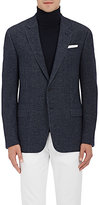"Giorgio Armani Men's ""Soft"" Herringbone Wool-Cotton Two-Button Sportcoat"