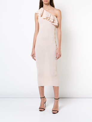 Balmain Asymmertric Dress Pink