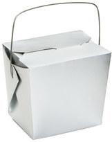 Takeout 8 oz. Take-Out Box Silver
