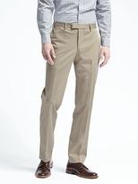 Banana Republic Standard Stretch Cotton Solid Suit Trouser
