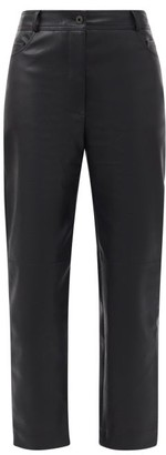 Stella McCartney Hailey Straight-leg Faux-leather Trousers - Black
