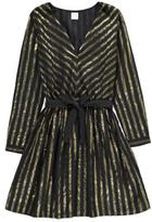Des Petits Hauts Vallée Striped Lurex Cotton Dress