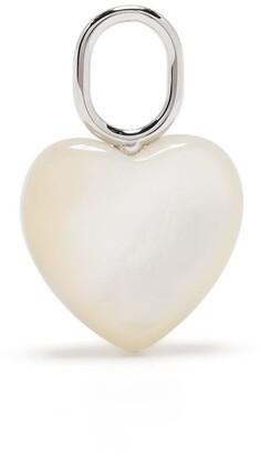 Maria Black Mother heart charm