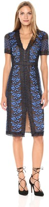 BCBGMAXAZRIA Azria Women's Cinthya Woven Short Sleeved Lace Dress