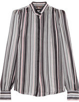 Giambattista Valli Striped Silk-georgette Blouse - Black