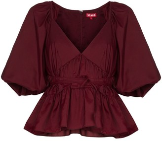 STAUD Lucy peplum top