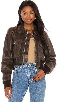 Understated Leather Spirit Bomber Jacket