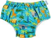 I Play Snap Reusable Absorbent Swim Diaper (Baby) - Aqua Jungle - 12-18 Months